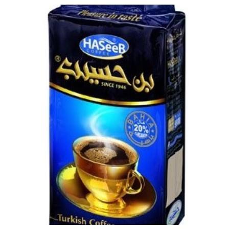 Turecká káva 20 % kardamón - HASEEB Coffe Blue Extra Cardamon
